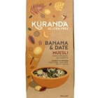 Order Wholesale from Kuranda Wholefoods. Online via Good Food Warehouse 500g Gluten Free Banana Date Muesli.