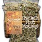 Order Wholesale from Kuranda Wholefoods. Online via Good Food Warehouse 3kg Gluten Free Banana Date Muesli.