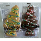 Wrapped Gingerbread Christmas Trees 40g - Plain and Chocolate - Christen's Gingerbread (24x40g)