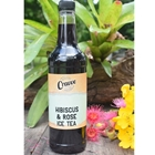 Organic Ice Tea Syrup 750ml - Hibiscus Rose - Cravve (1x750ml)