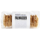 Free Delivery. Delivered Fresh. Falwasser Natural Rosemary Sea Salt Gluten Free Wafer Thin Crispbreads from Byron Bay.