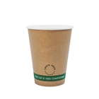 12oz PLA Single Wall Kraft Compostable Cups