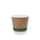 8oz PLA Double Wall Kraft Compostable Cups