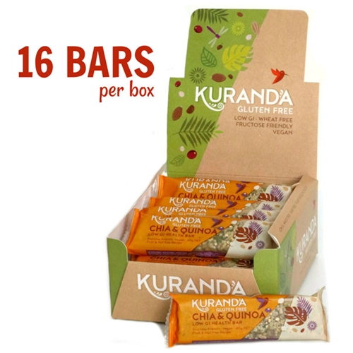 Order Wholesale Kuranda 35g Chia Quinoa Fruit Nut Free Health Bars. Order Online Distributor Good Food Warehouse.