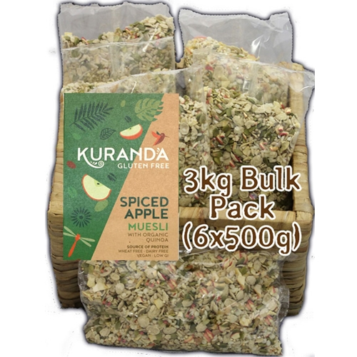 Order Wholesale Kuranda Wholefoods Nut Free Gluten Free 3kg Spiced Apple Muesli. Online Good Food Warehouse.