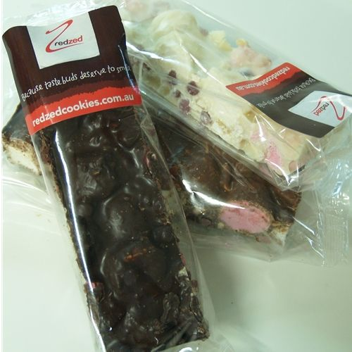Wrapped Rocky Road 70g - White Choc Cashew MINI - Redzed (12x70g)