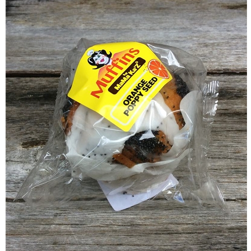 Wholesale Wrapped Muffins 170g - Orange Poppy Seed - MaMa Kaz Orders Dispatched direct from Supplier. Free Delivery Australia Wide.