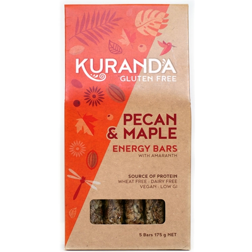 Order Wholesale Kuranda 35g Pecan Maple Fruit Free Energy Bars. Order Online Distributor Good Food Warehouse.