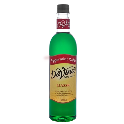 Wholesale Syrup 750ml - Peppermint Paddy - DaVinci Gourmet (1x750ml) Orders Dispatched direct from Supplier. Free Delivery Australia Wide.