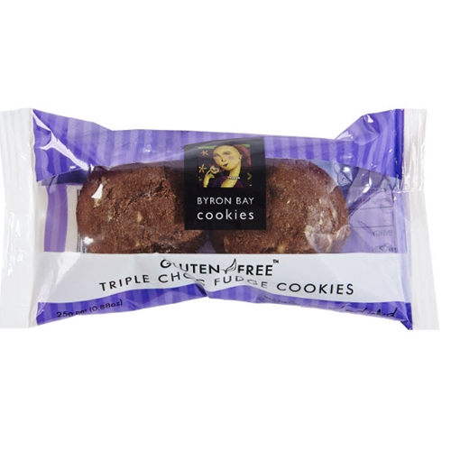 Wrapped Twin Pack Buttons 25g - Gluten Free Triple Choc - Byron Bay Cookies (100x25g)
