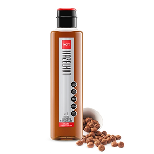 Order Wholesale Syrup 1ltr - Hazelnut - SHOTT Beverages  Orders Dispatched direct from Supplier. Free Delivery Australia Wide.