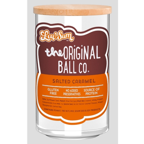 Wholesale Unwrapped 12 Protein Balls 40g - Gluten Free Salted Caramel - Luv Sum Orders Dispatched direct from Supplier. Free Delivery Australia Wide.