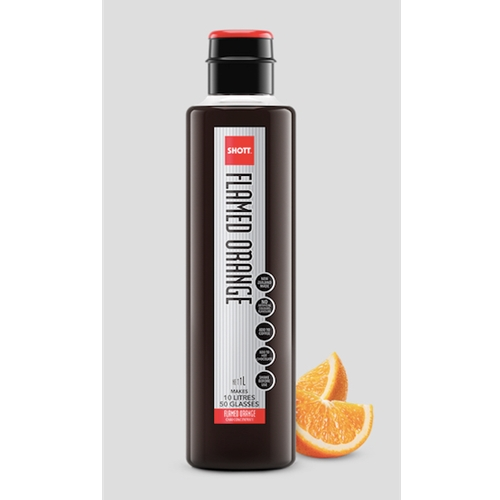 Wholesale Syrup 1ltr - Flamed Orange - SHOTT Beverages Orders Dispatched direct from Supplier. Free Delivery Australia Wide.