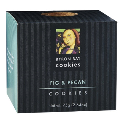 Order Wholesale Fresh Byron Bay Fig Pecan Baby Button 75g Gift Cube from Good Food Warehouse. FREE DELIVERY AUSTRALIA WIDE.