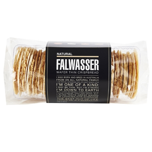Free Delivery. Delivered Fresh. Falwasser Natural Wafer Thin Crispbreads from Byron Bay.