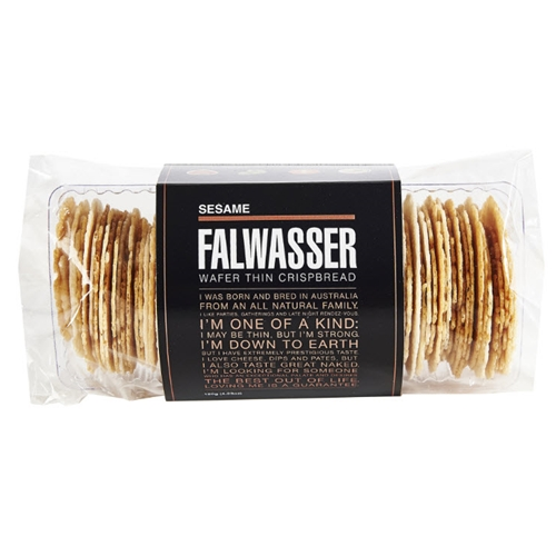 Free Delivery. Delivered Fresh. Falwasser Natural Sesame Wafer Thin Crispbreads from Byron Bay.