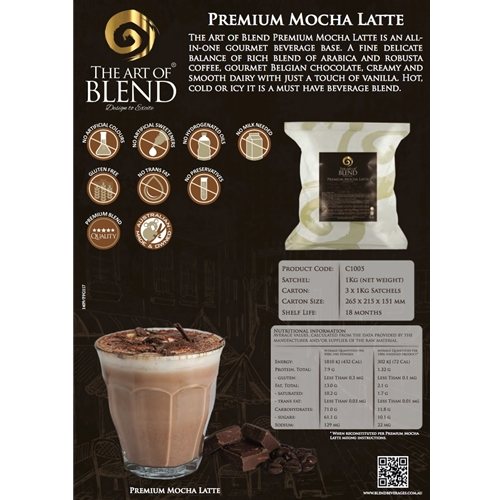 Order Wholesale from Good Food Warehouse. Free Delivery Premium Mocha Latte Powder.