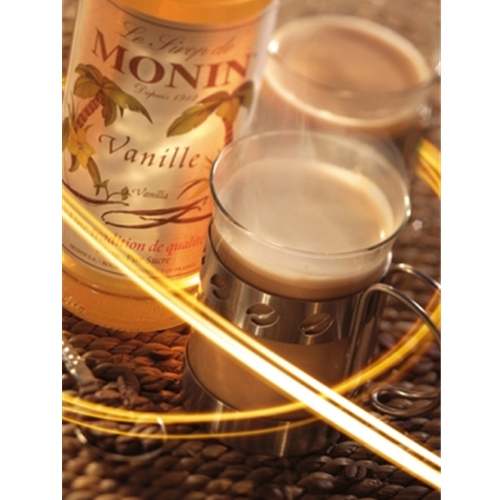 Free Delivery and Best Wholesale Price for Monin 1ltr PET Vanilla Syrup at Good Food Warehouse