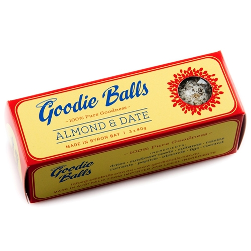 Order Wholesale from Good Food Warehouse. Free Delivery Almond Date Goodie Balls Byron Bay.