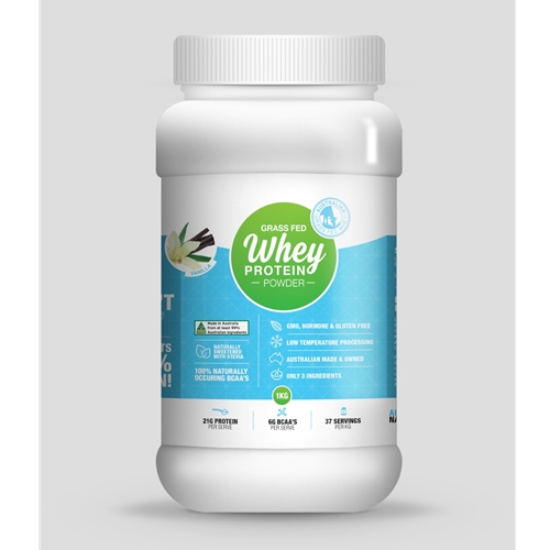 Order Life Grip Australian Grass Fed Vanilla Whey Protein Powder online Good Food Warehouse. Free Delivery.