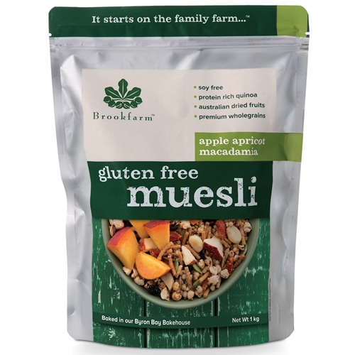 Order Wholesale 1kg Brookfarm Gluten Free Apple Apricot Muesli Online Good Food Warehouse