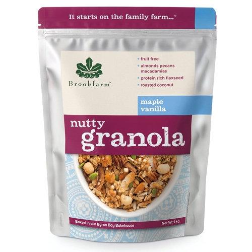 Order Wholesale 1kg Nutty Granola Maple Vanilla direct from Brookfarm Byron Bay Bakehouse