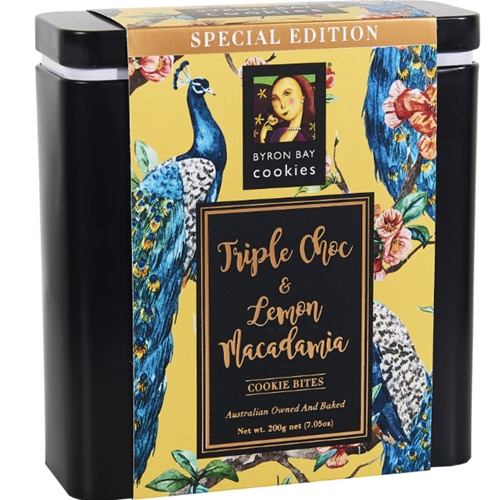 Special Edition Tin 200g - Assorted Peacock - Byron Bay Cookies (1x200g)