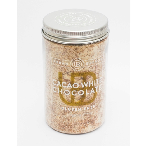 Order Wholesale Online Urban Blends 210g Cacao White Choc Jar. Good Food Warehouse.