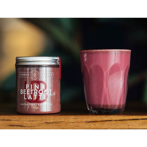 Order Wholesale Online Urban Blends 150g Pink Beetroot Latte Jar. Good Food Warehouse.
