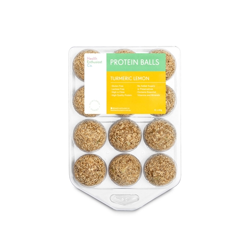 Health Enthusiast - Turmeric Lemon Protein Balls