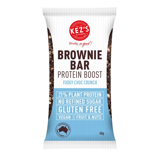 Protein Boost Fudgy Choc Crunch Brownie - Kez's Kitchen - Good Food Warehouse