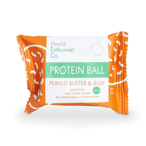 Peanut Butter Jelly Single Wrapped Protein Balls | Good Food Warehouse