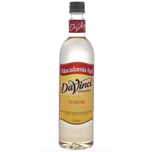 Wholesale Syrup 750ml - Macadamia Nut - DaVinci Gourmet (1x750ml) Orders Dispatched direct from Supplier. Free Delivery Australia Wide.