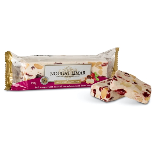 Wholesale  150g - Wild Berry Macadamia - Nougat Limar Orders Dispatched direct from Supplier. Free Delivery Australia Wide.