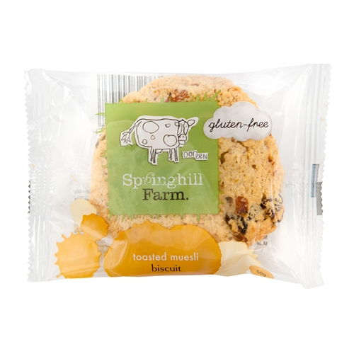 Wrapped Biscuits 50g - Gluten Free Toasted Muesli - Springhill Farm (10x50g)