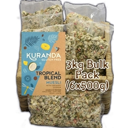 Order Wholesale Kuranda 3kg Tropical Blend Nut Free Muesli. Order Online Distributor Good Food Warehouse.