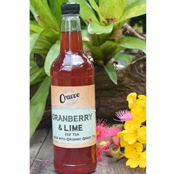Organic Ice Tea Syrup 750ml - Cranberry Lime - Cravve (1x750ml)