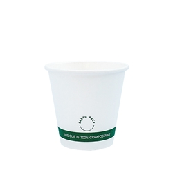 8oz PLA Single Wall White Compostable Cups