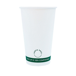 16oz PLA Single Wall White Compostable Cups
