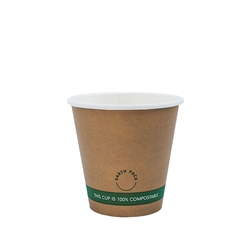 4oz PLA Single Wall Kraft Compostable Cups