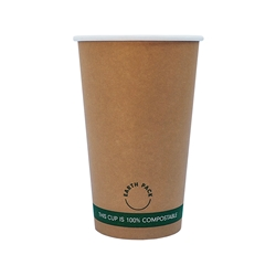 16oz PLA Single Wall Kraft Compostable Cups