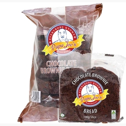 Papa Joes Wrapped Chocolate Brownie Bread Distributor