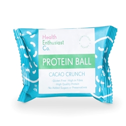 Health Enthusiast Cacao Crunch Single Wrapped Protein Balls | Good Food Warehouse
