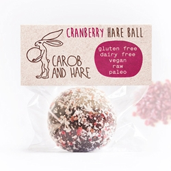 Cranberry Health Balls | Carob & Hare Cafe Balls | Good Food Warehouse